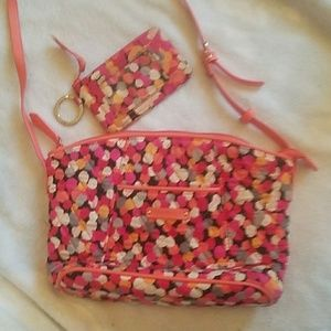 Vera Bradley purse and id case set